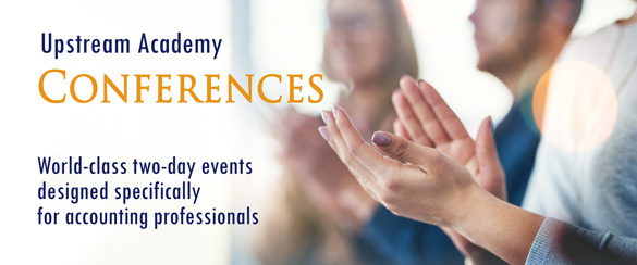 World-class 2-day events designed for accounting professionals