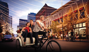 Pedicab at Larimer Square